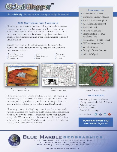 Global Mapper Flyer page 1